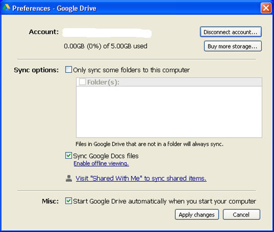 google-drive-preferences