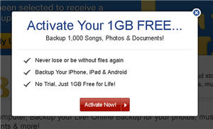activate your 1gb free backup account at mypcbackup